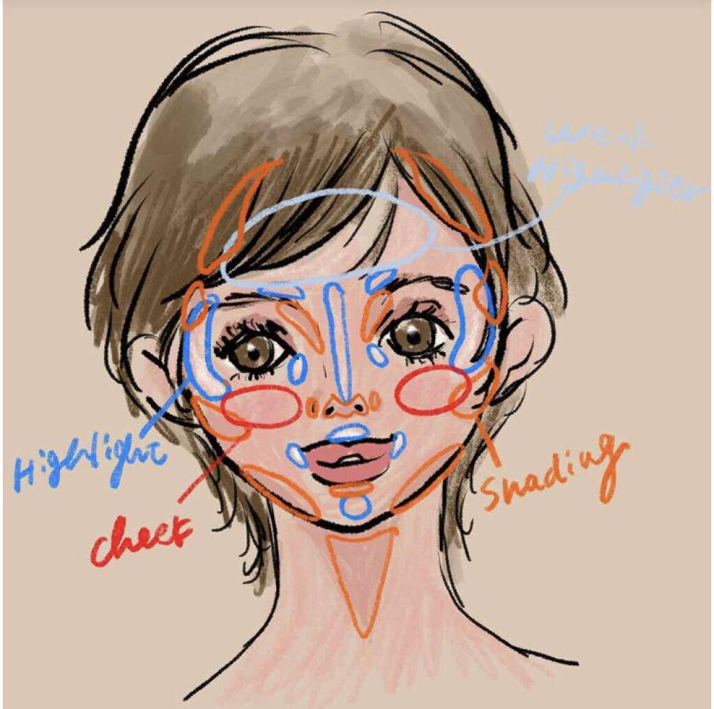 「ジュワッと可愛いクリームチークの塗り方!面長・丸顔・ブラシ・スポンジ|おすすめ人気アイテム紹介」の画像(#131668)