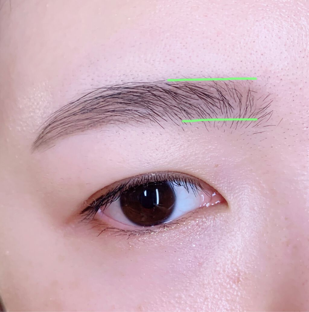 韓国っぽ眉をマスター!平行眉毛の整え方・書き方学んでオルチャン顔を作りましょう。の画像