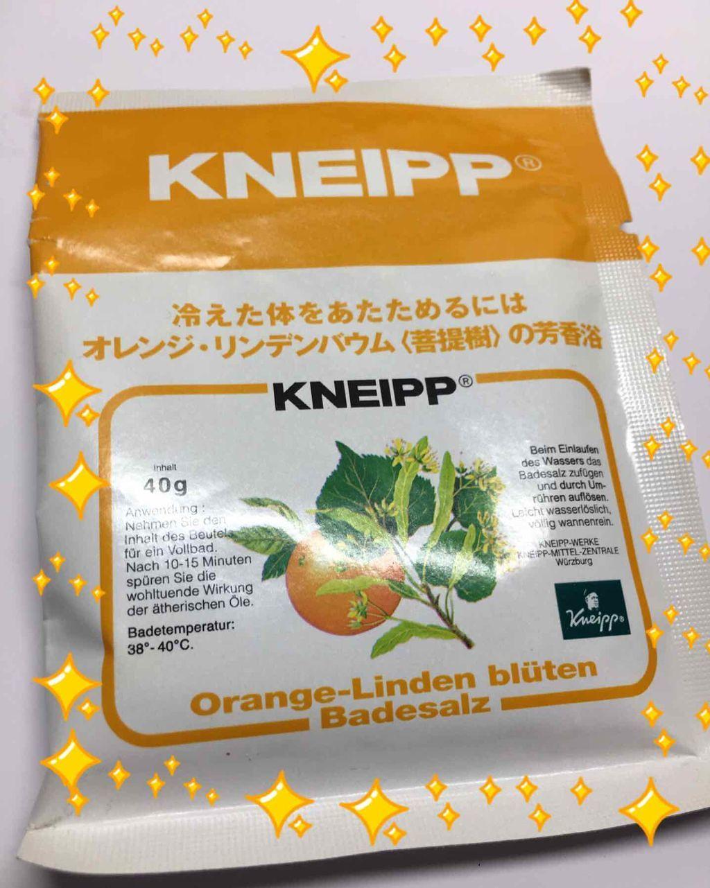 クナイプ,バスソルト オレンジ・リンデンバウム<菩提樹>の香り