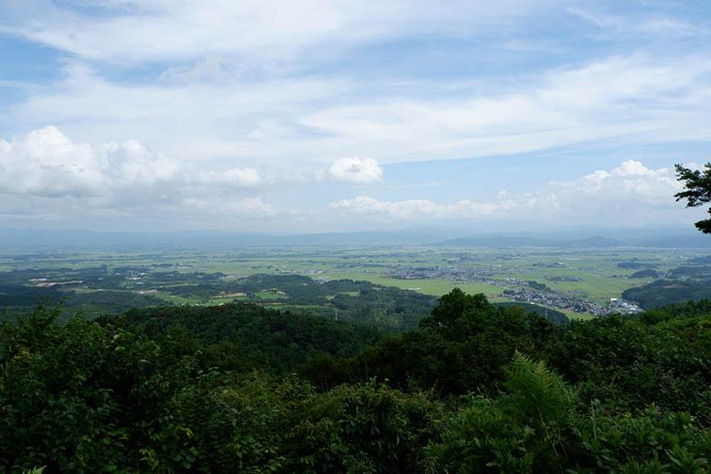七曲峠の見晴らし風景