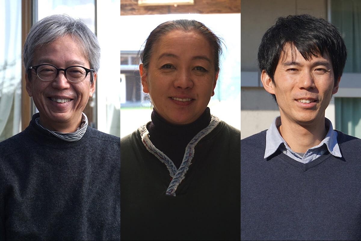 左から旧老川小の活動を盛り上げる良品計画スタッフ、中川さん、安井さん、佐藤さん