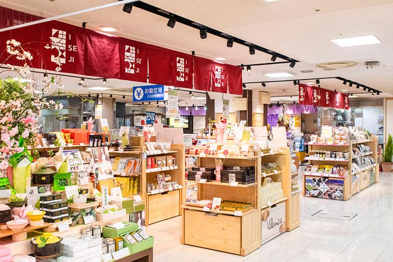 三重県内の特産品を集めた常設のショップ「伊勢路テラス」は地元の方にも好評。