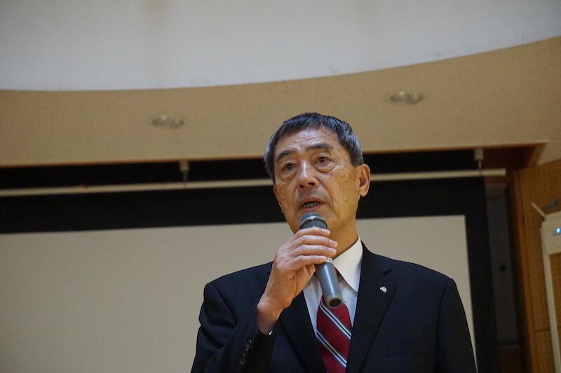 山林再生の新しい形に期待する飯島勝美・大多喜町長。