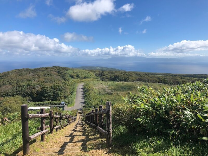珠島山からの一望する景色
