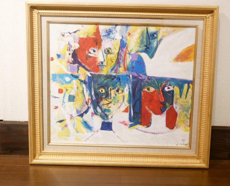 今井氏の絵は、見るものが感じるままに感じてほしいという意向で作品名がないものも多い