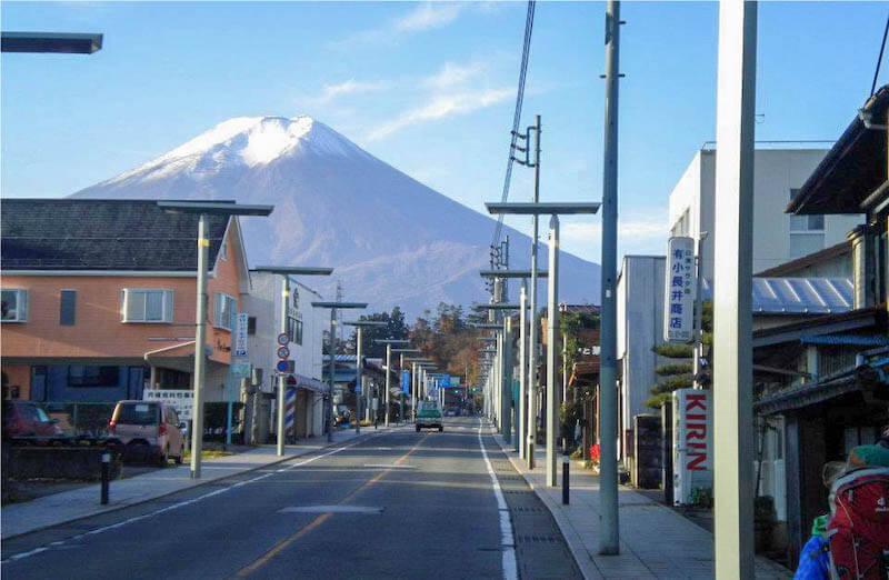 テーマの1つであった「富士山信仰を活かした観光施策づくり」の舞台となった街並み