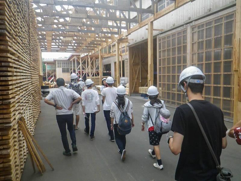 林業・木材産業の就業体験合宿にも大勢の学生が参加した