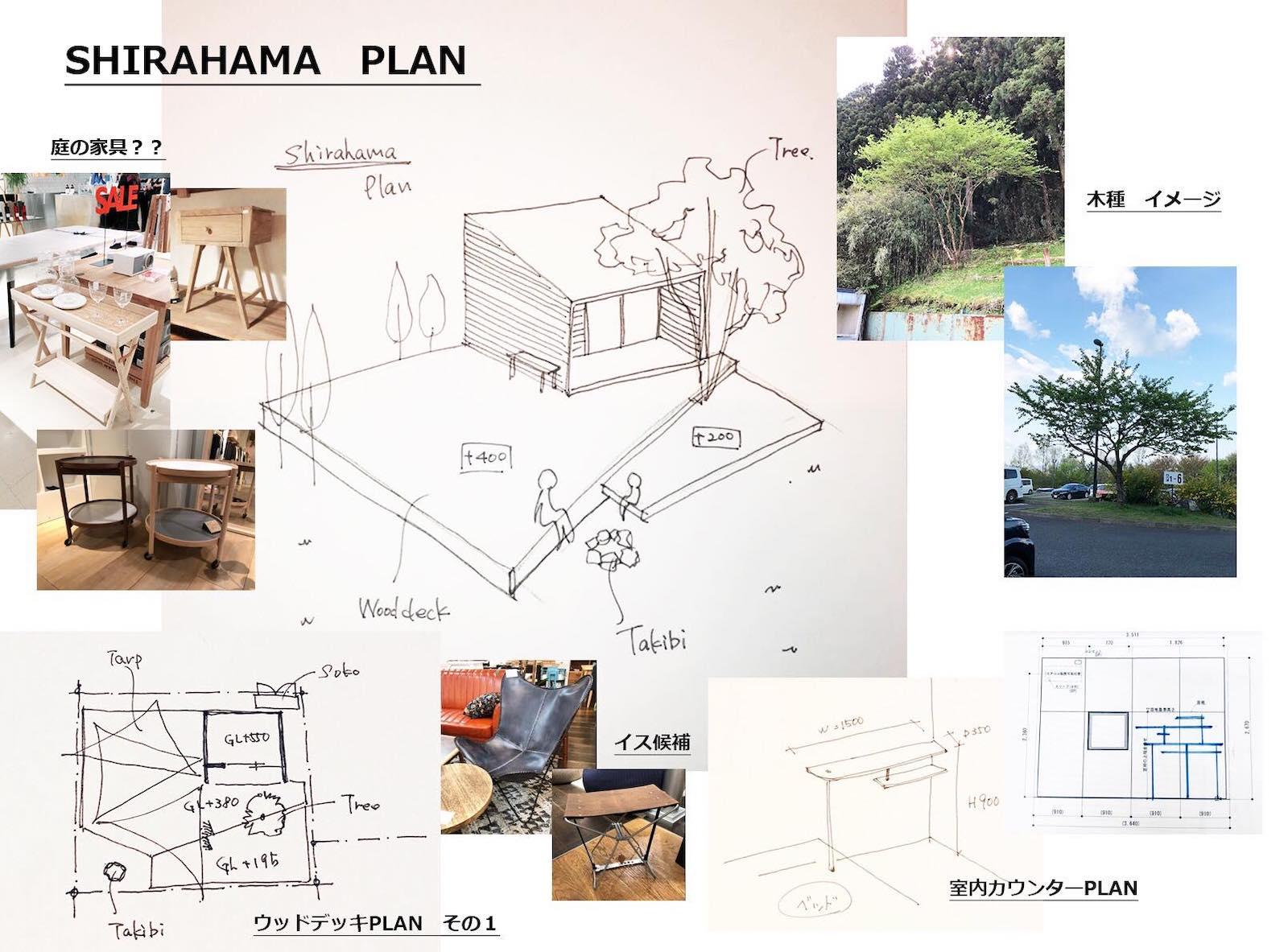 ナミエさんがデザインした小屋の内装と外観