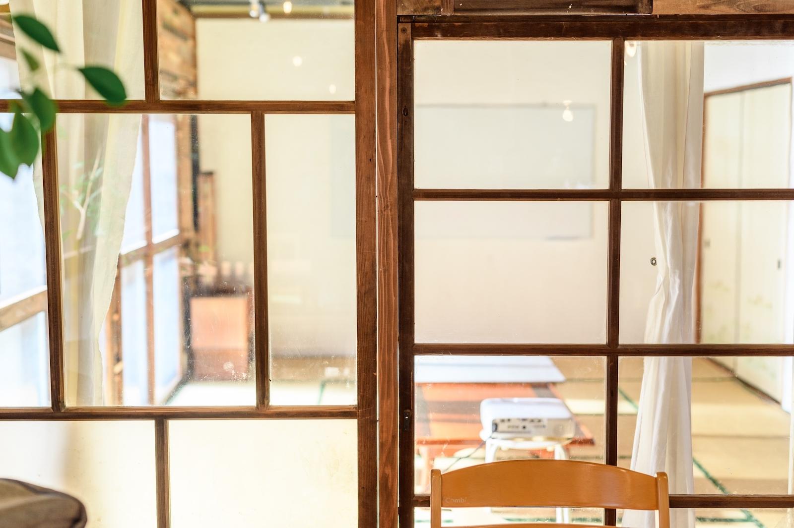 ワークショップなどが行われる和室。古い建物のデザインを活かしている