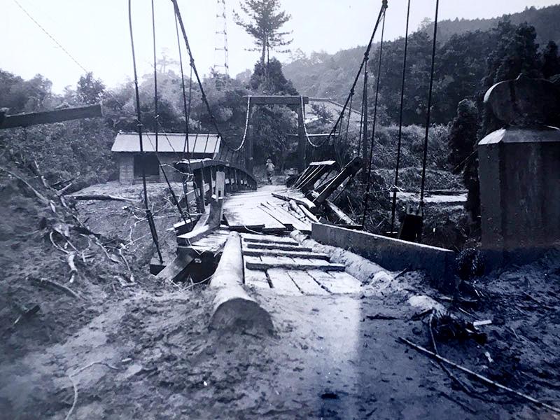昭和45年の集中豪雨で氾濫した養老川