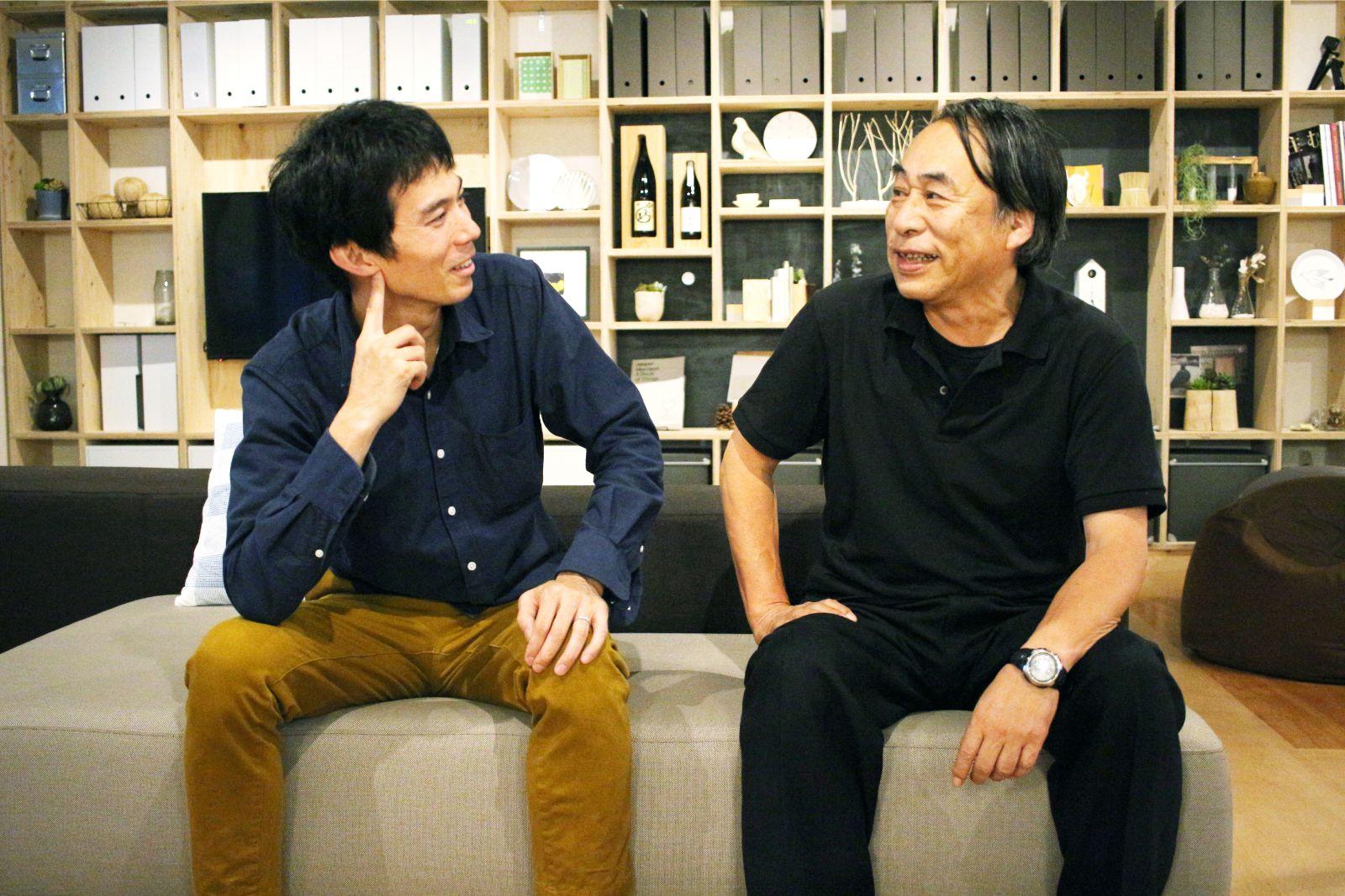 光が丘ゆりの木北自治会長の田中奨さん(右)と佐藤一成さん(左)。「昨日も一緒にランチをしたんですよ(笑)」と佐藤さん