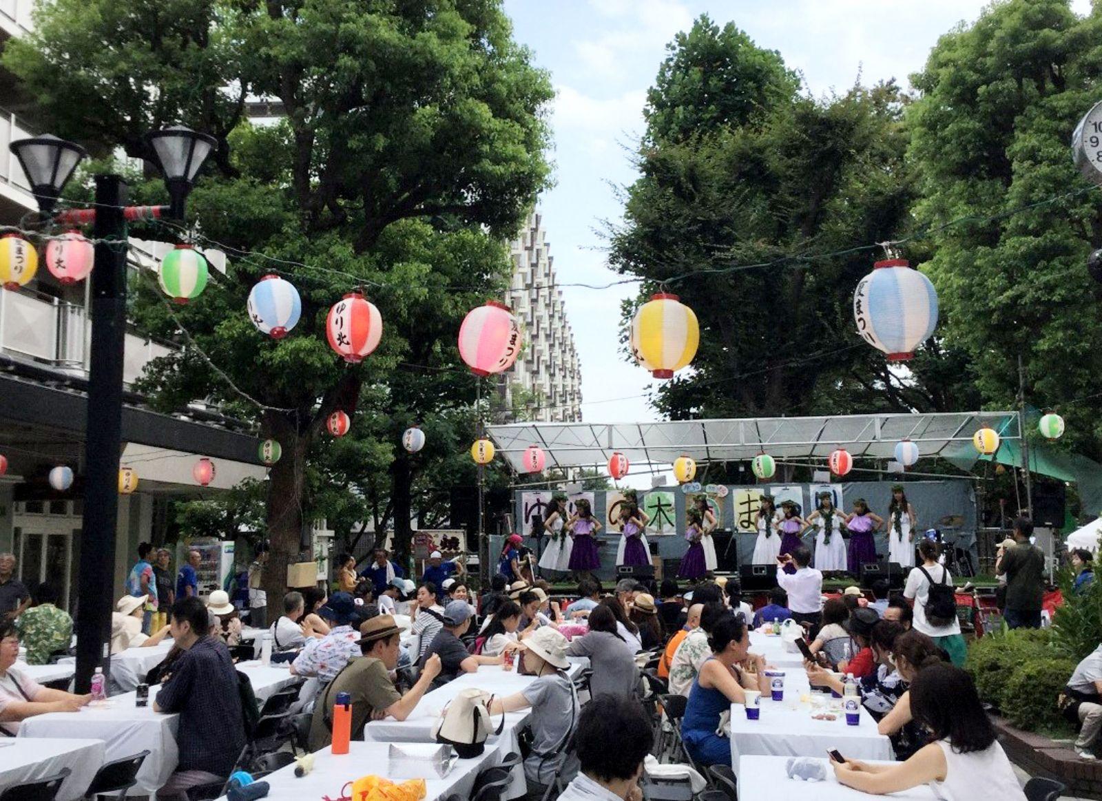 夏祭りはゆりの木団地で開催される年に一度のビッグイベント