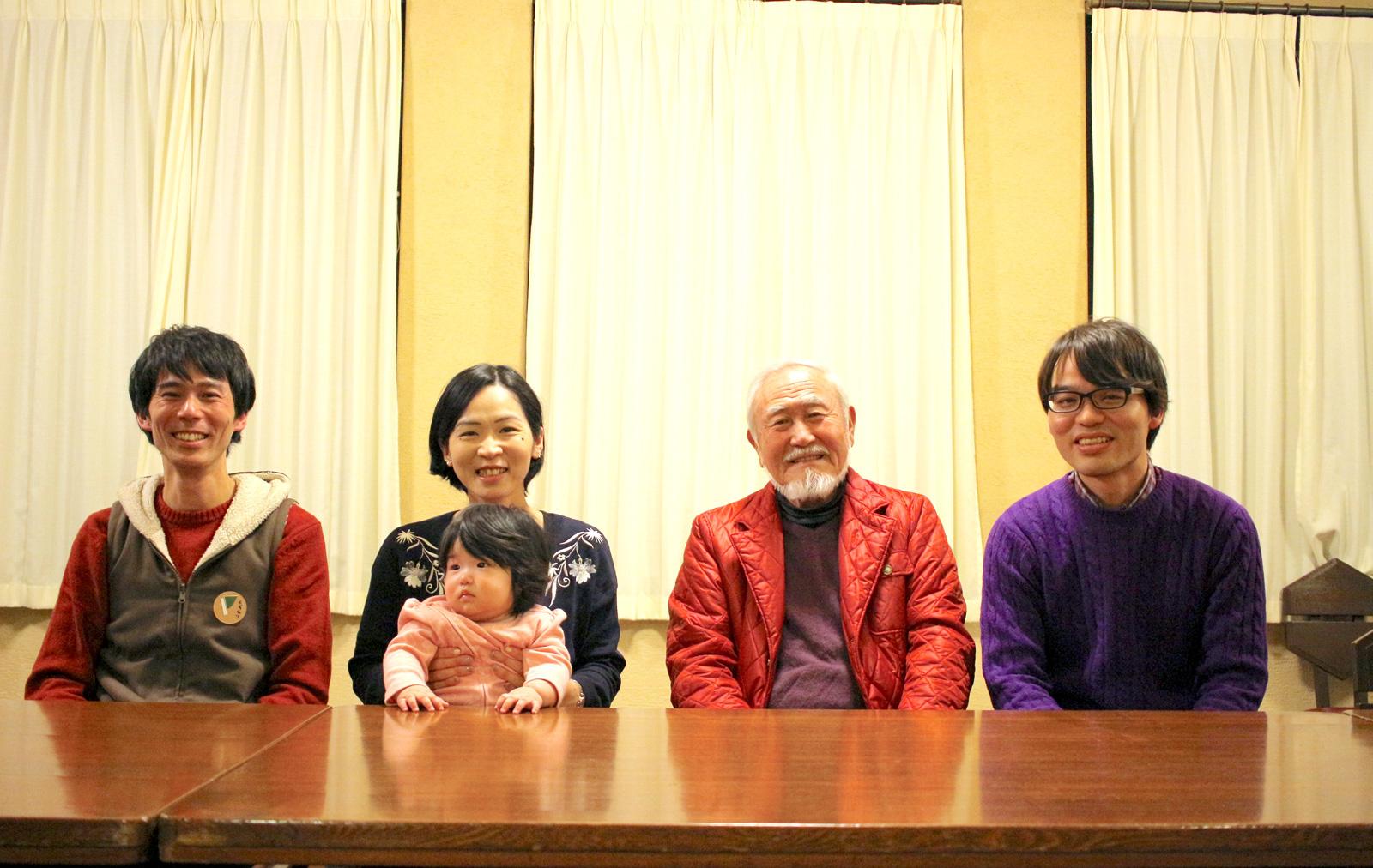 お話しを伺った4名。左から良品計画の佐藤さん、地域住民の山ノ内さん、上り屋敷町会長の重田さん、豊島区の藤井さん。