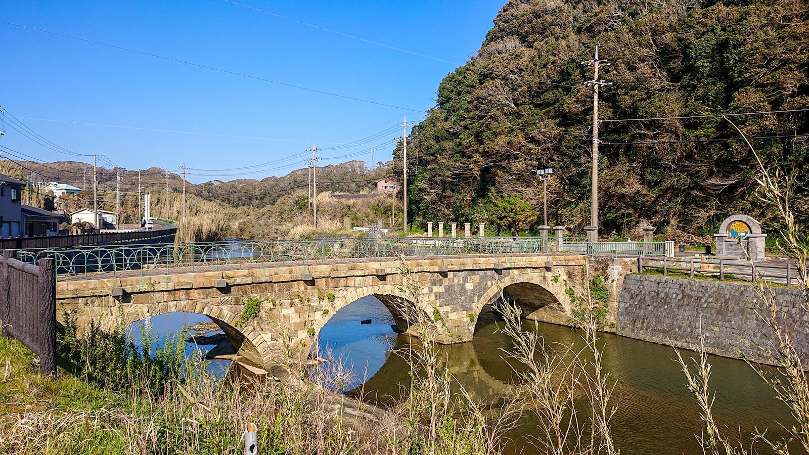 石積みが美しい眼鏡橋。橋を見ながらのピクニックも楽しい
