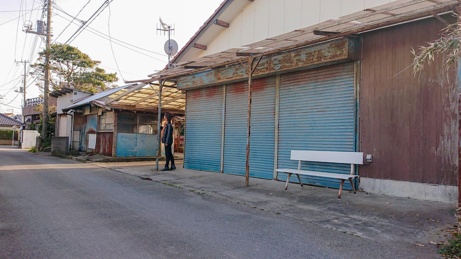 商店が並んでいたメインストリート。今営業している店は一軒もありません