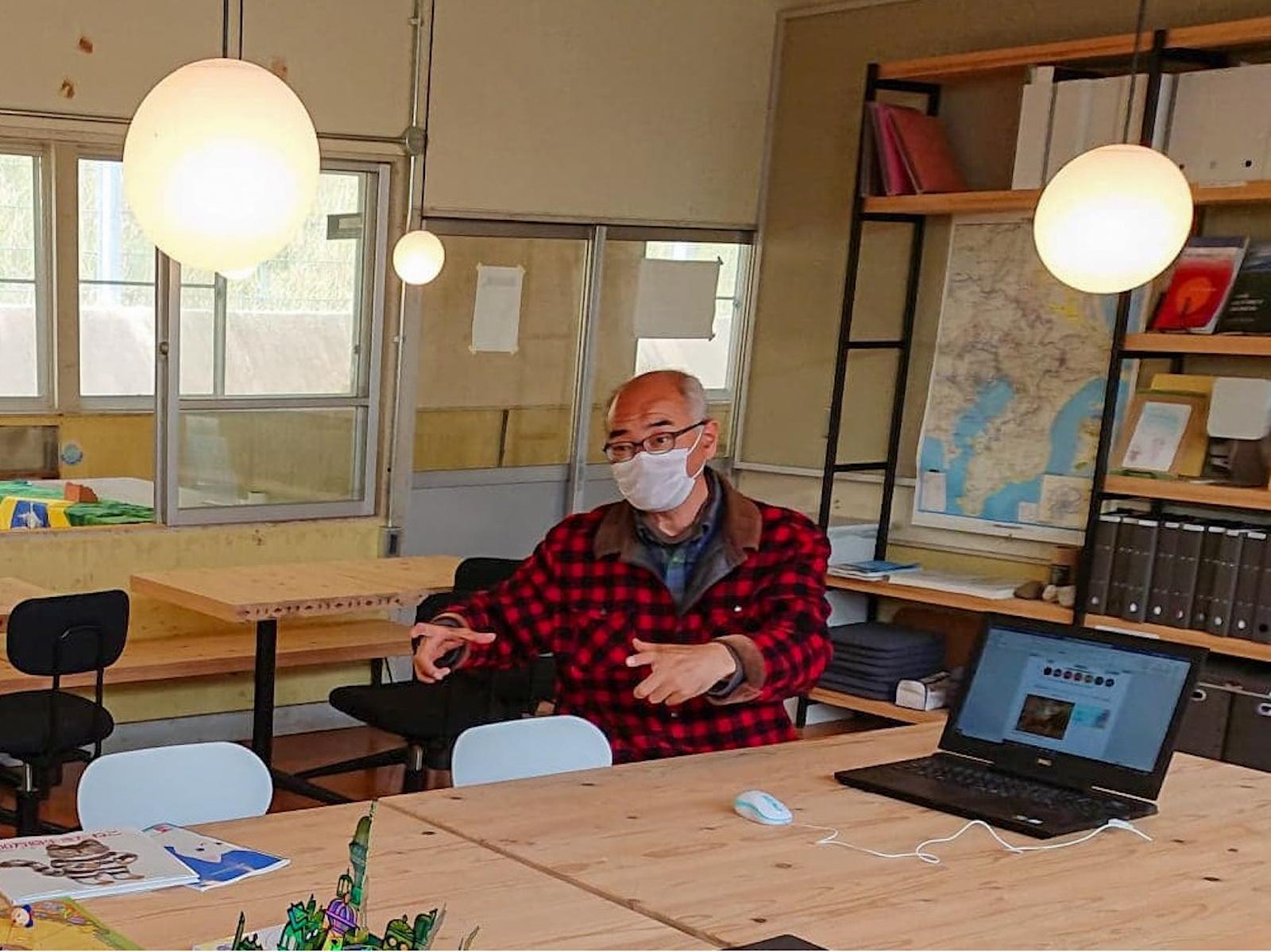 網代剛さん。書き手・多田佳世子とは高校の同窓でもあります