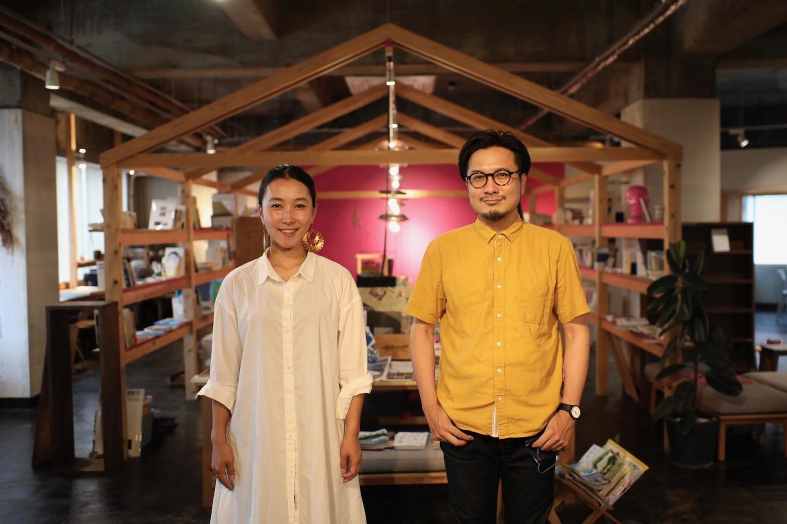 中村さん(左)とおきなさん(右)は、イベントやコミュニティ、プロジェクトを創る会社「visionAreal」の共同代表。
