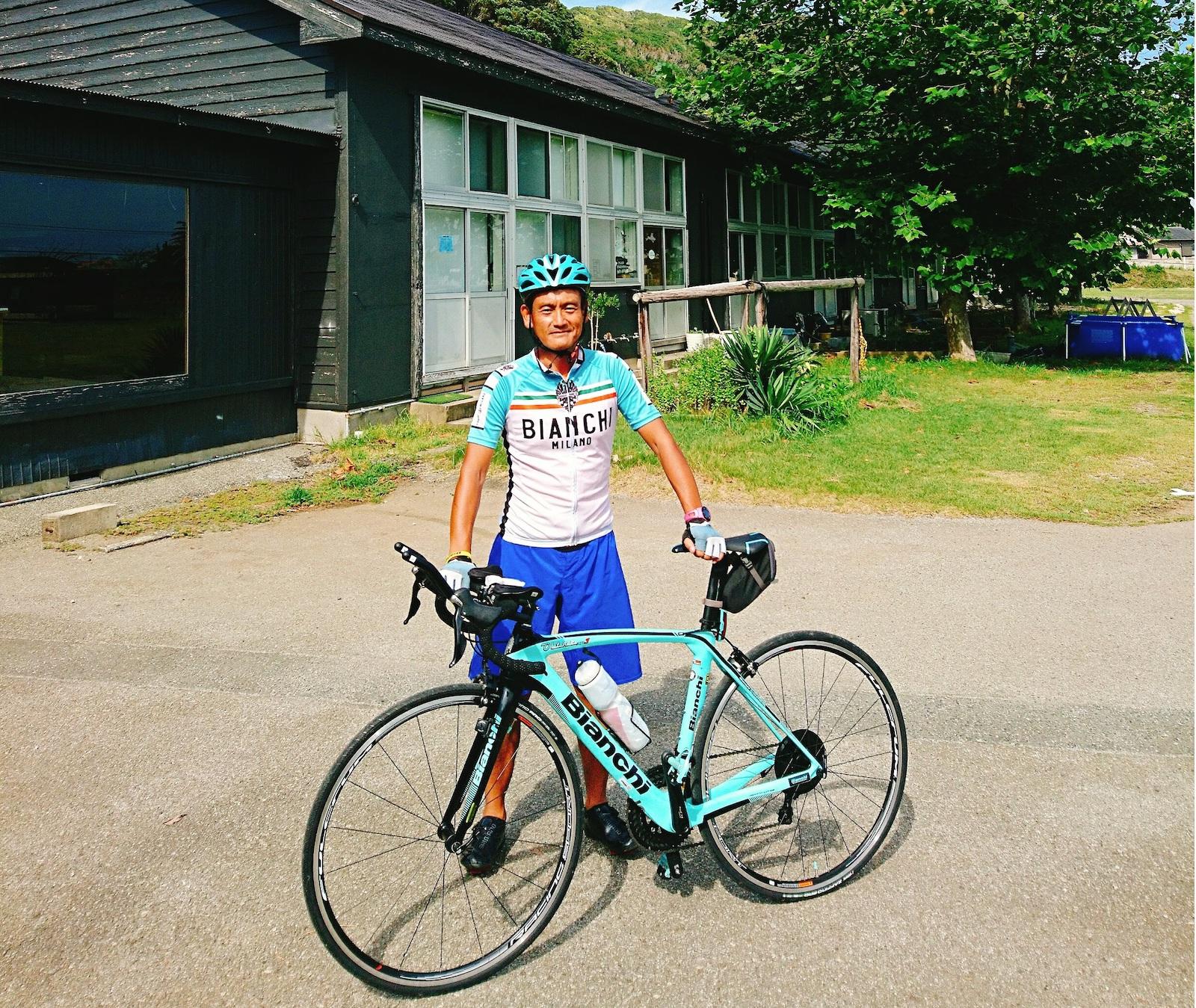 房総を自転車で回る阿部先生。観光やスポーツツーリズム提案など活動は多岐に渡ります