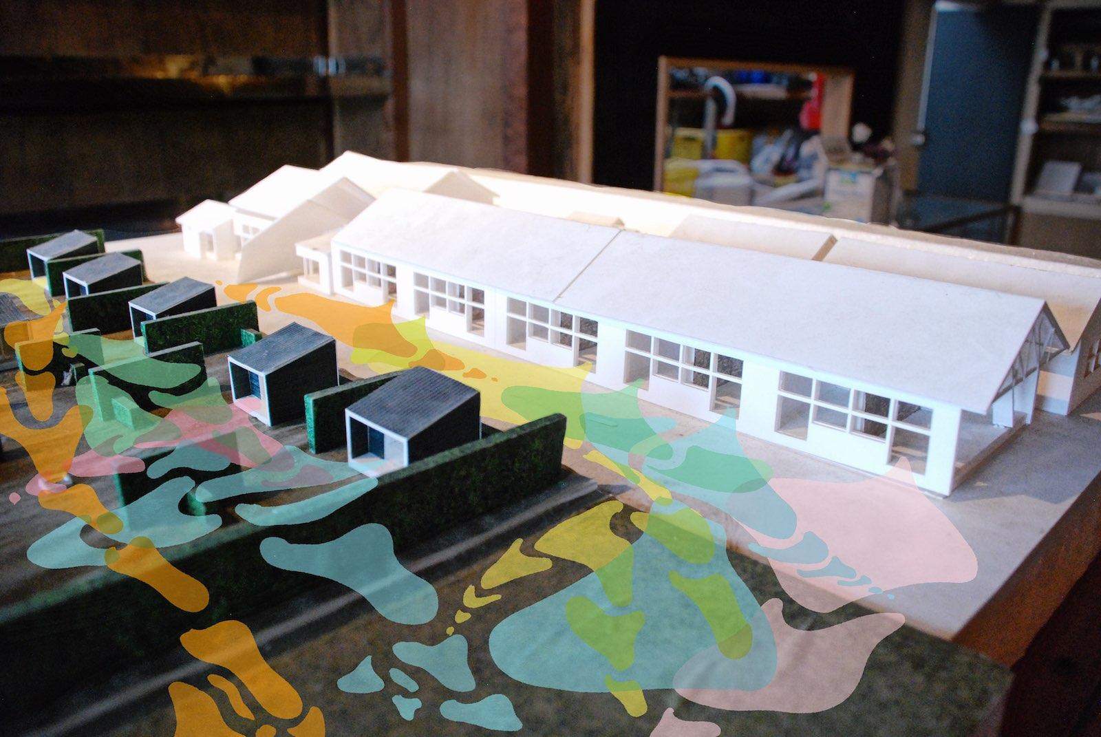 シラハマ校舎の模型