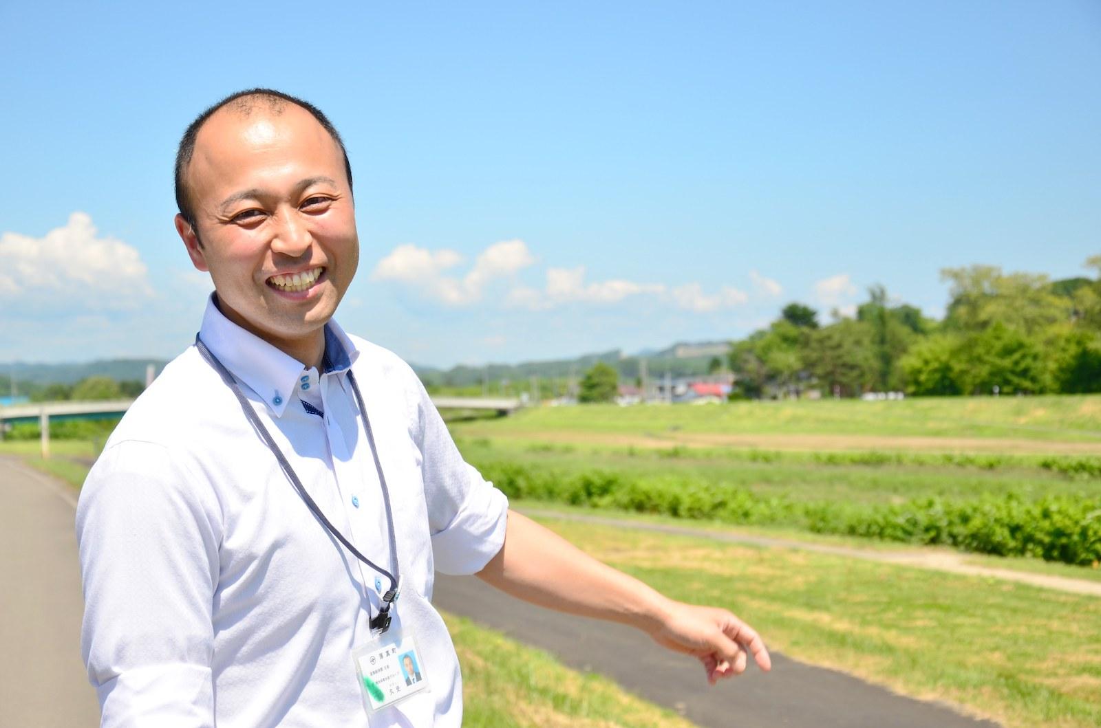 産業経済課の宮久史さん。林業の振興策や町の人材育成のプログラムに関わるなど仕事は多岐にわたる。
