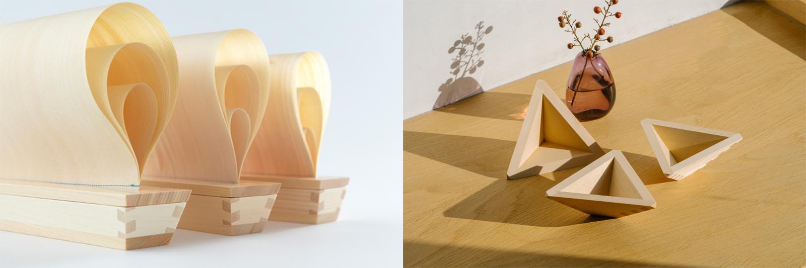 左 ヨットを想起させる「マスト」、右 '11にグッドデザイン賞受賞の「すいちょこ」