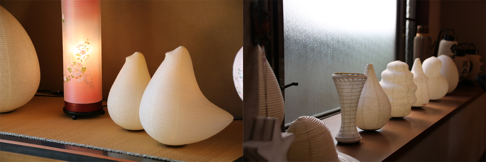 やわらかな光を放つ水府提灯とMICシリーズ