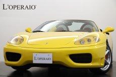 フェラーリ 360 Spider F1 正規ディーラー車 走行距離6,000km 社外ナビ ボルドーレザー【車検R04年7月迄】
