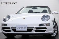 ポルシェ 911(Type997) Carrera Cabriolet Tip-S クラリオンHDDナビ シートヒーター 純正18インチアルミ