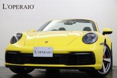 ポルシェ 911(Type992) Carrera 4S Cabriolet PDK 現行2020年モデル ワンオーナー ブラックレザー 黒幌 スポーツクロノPKG フロントアクスルリフトシステム 14wayメモリーパワーシート PASM ブラッシュアルミ二ウムインテリアPKG 純正20/21インチカレラクラシッククアルミホイール【新車保証令和5年5月迄】