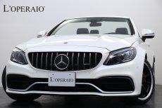 AMG Cクラス C63S Cabriolet 走行1,400km ダイヤモンドホワイト×レッド幌 ブルメスター AMGパフォーマンスエキゾースト ヘッドアップディスプレイ レーダーセーフティPKG【新車保証継承R04年08月迄】
