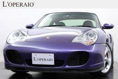 ポルシェ 911(Type996) Turbo Tip-S 後期モデル 希少右ハンドル 希少色 社外2DINナビ ディーラー記録簿有