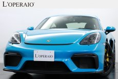 ポルシェ 718 ケイマン GT4 6MT ワンオーナー 走行距離6,000km オプションカラー Sport‐ChronoPKG PCCB 【新車保証継承R05年3月】