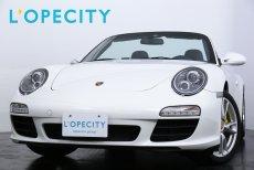 ポルシェ 911(Type997) Carerra Cabrioret PDK スポーツクロノPKG ネイビーレザー ネイビーソフトトップ シートヒーター 純正SDナビ 地デジ