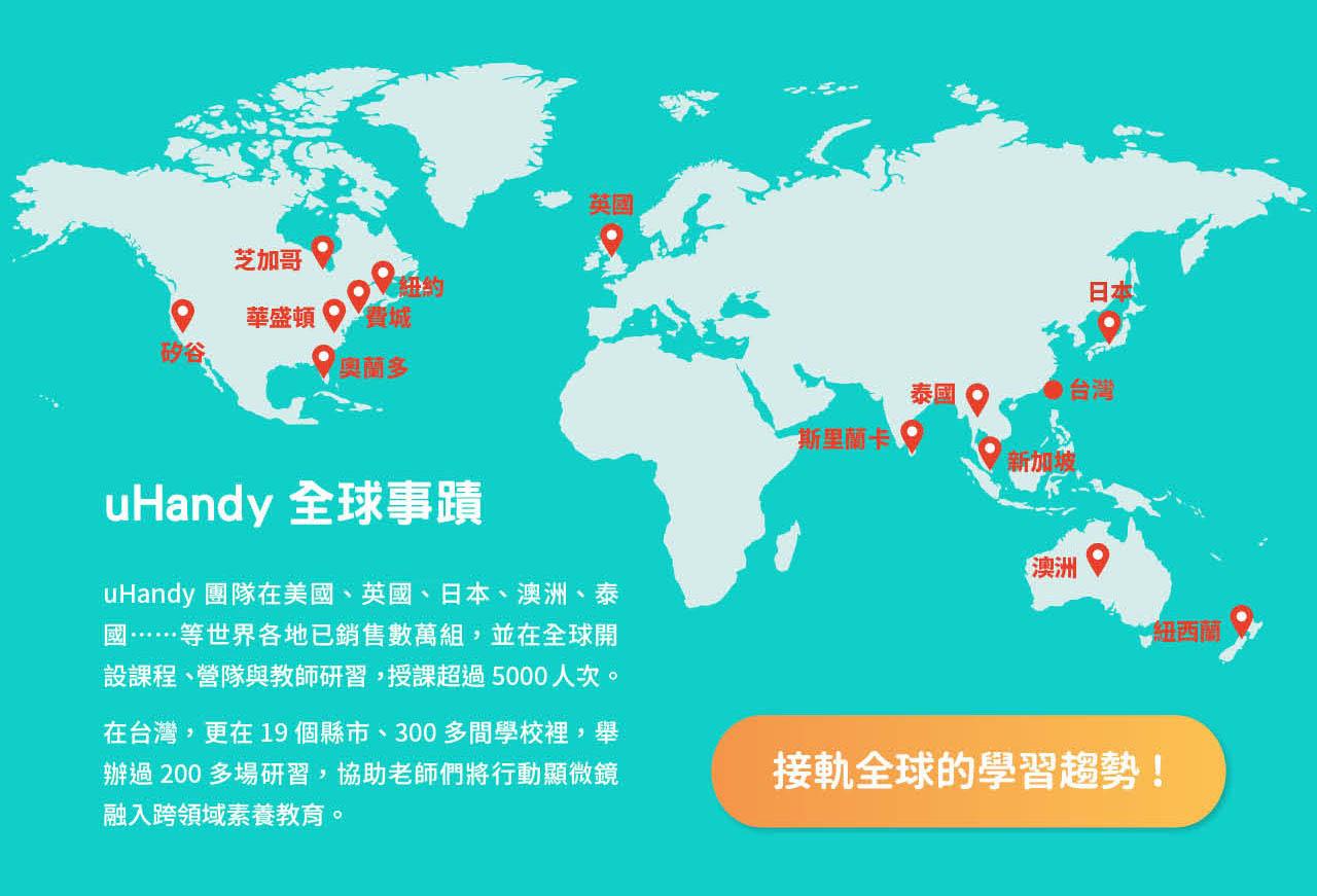 uHandy 行動顯微鏡:全球事蹟