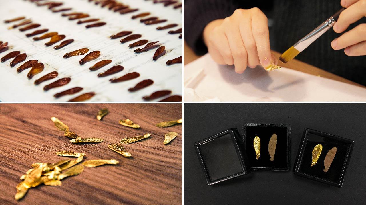 每一個黃金種子都是純手工製作
