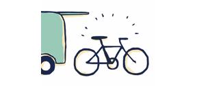 自転車などの荷物も楽々
