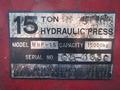 15T油圧プレス