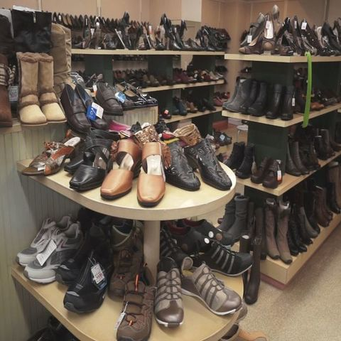 Flower shop shoe store