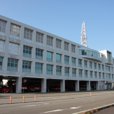 The first floor of the Yaizu-city firefighting disaster prevention center