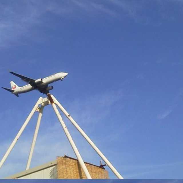 飛行機のオブジェ