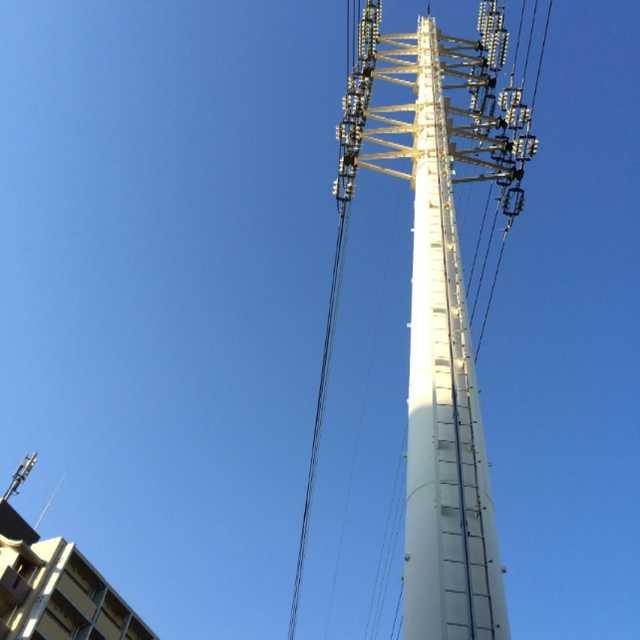 環七そばに立つ鉄塔