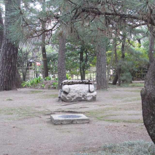 川上音二郎別荘の井戸枠