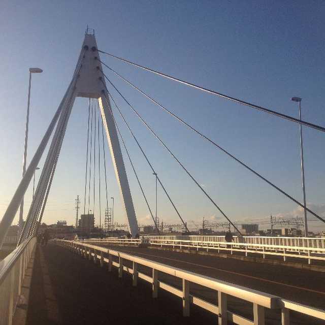 中川に架かる葛飾区の高砂橋