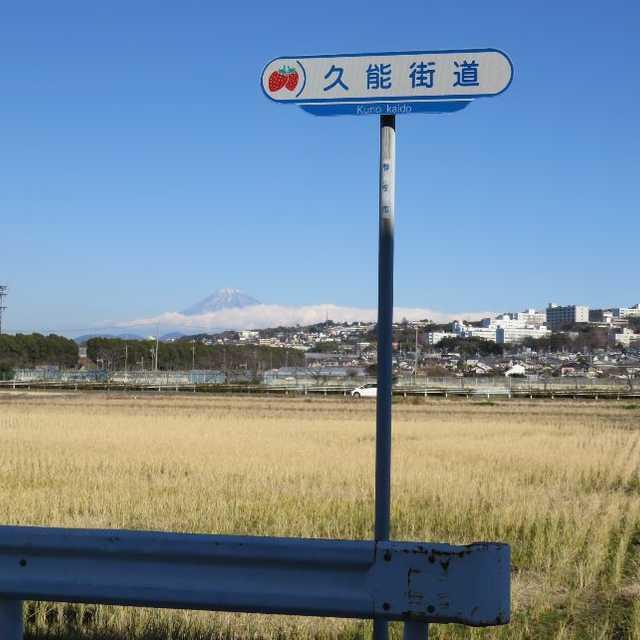 富士山を望む久能道