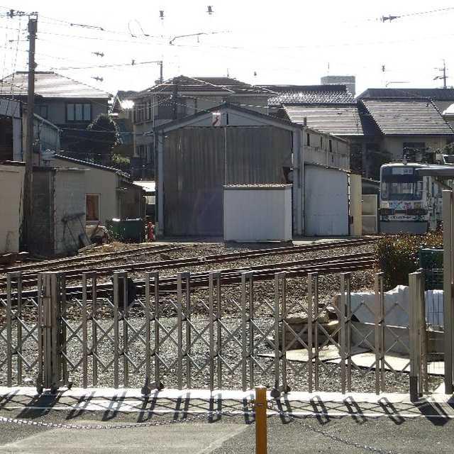 市内電車赤岩口車庫
