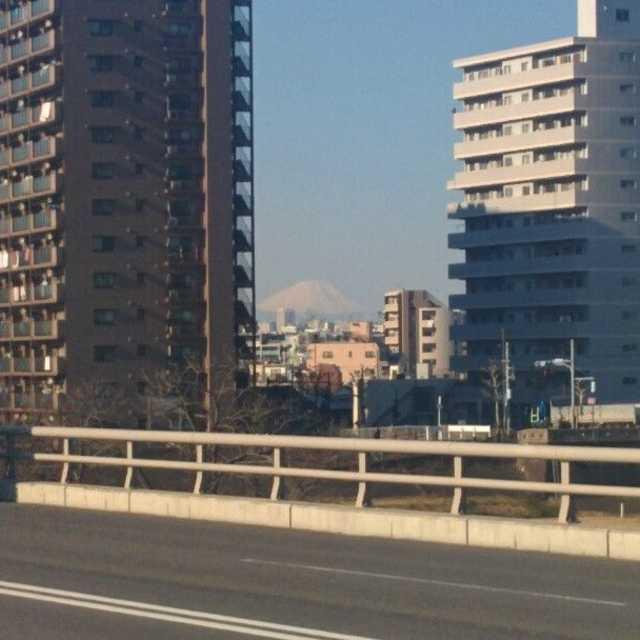 新四ツ木橋からの富士山