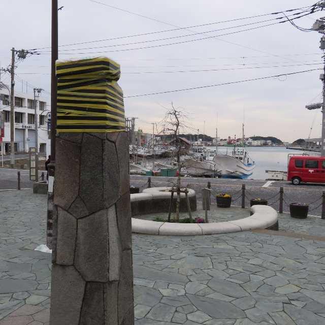 三崎港バス停前の三崎
