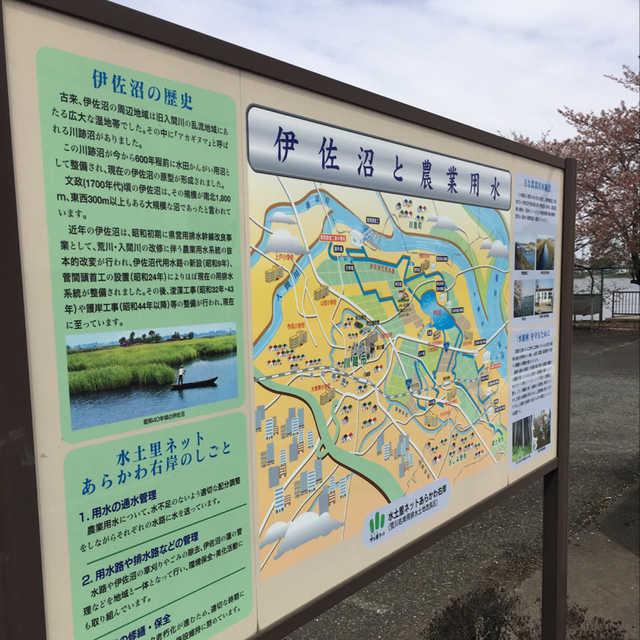 伊佐沼と農業用水
