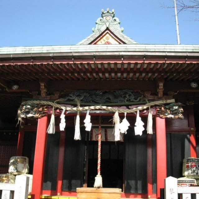 浅間神社の鰹木