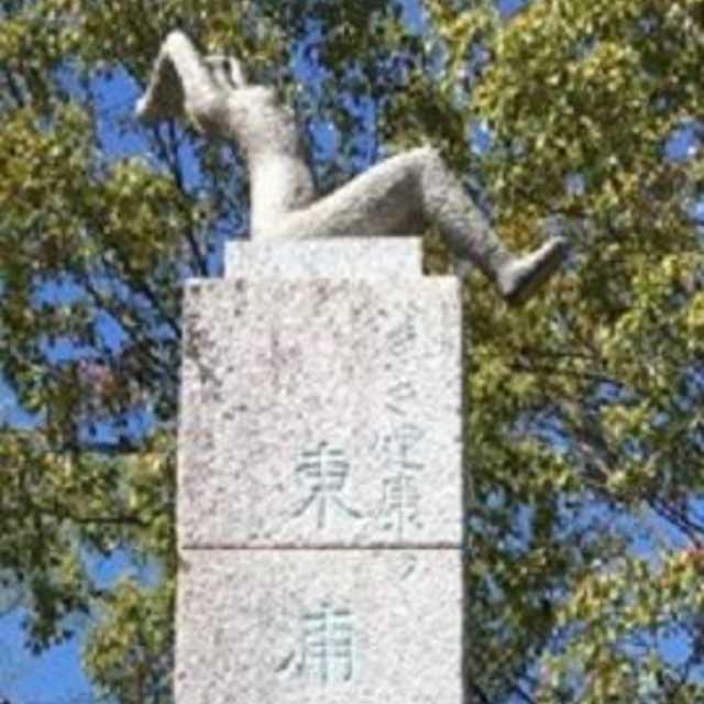 銅像と記念撮影その2